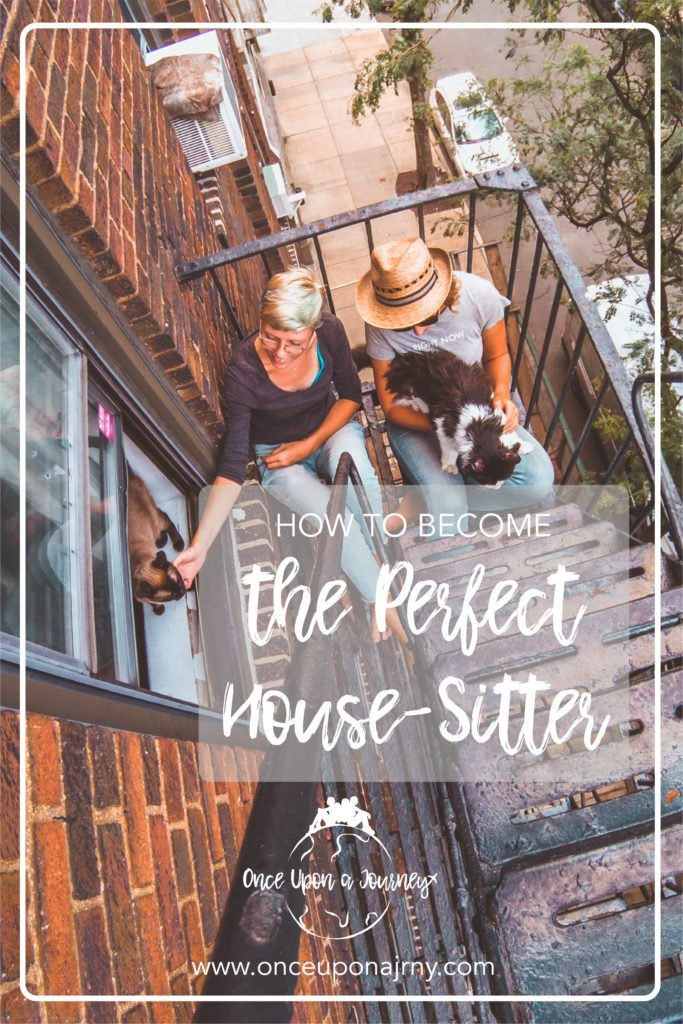 how to become house-sitter, pinterest photo, girls, fire escape new york city, cats