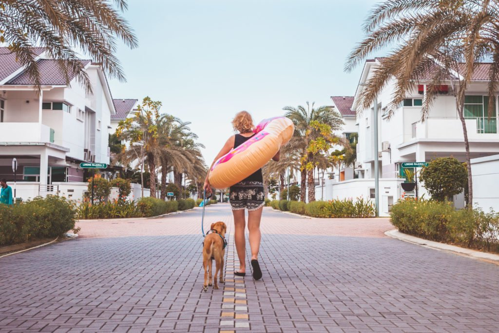 become perfect house-sitter, dog girl, floatie, malaysia, trustedhousesitters