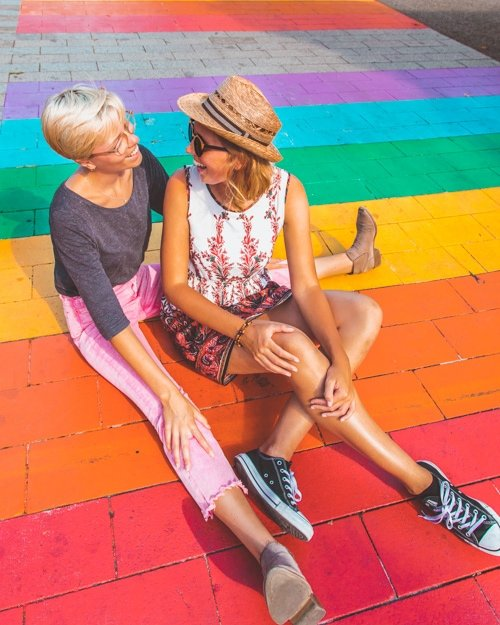 how LGBT friendly is the Netherlands, holland, amsterdam, gaybra, rainbow crosswalk, rainbow crossing, rainbow, lgbt travel, lesbian travel, lesbian travel couple, lgbt travel blog, lesbian travel blog, 's-hertogenbosch, den bosch, dutch
