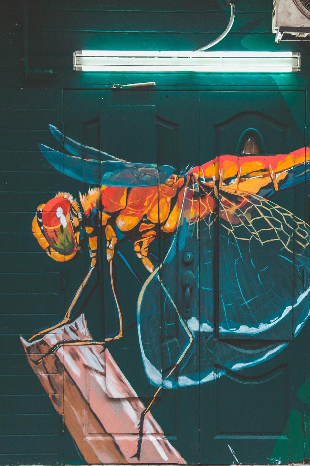 Bukit Bintang Street Art Dragonfly, Kuala Lumpur