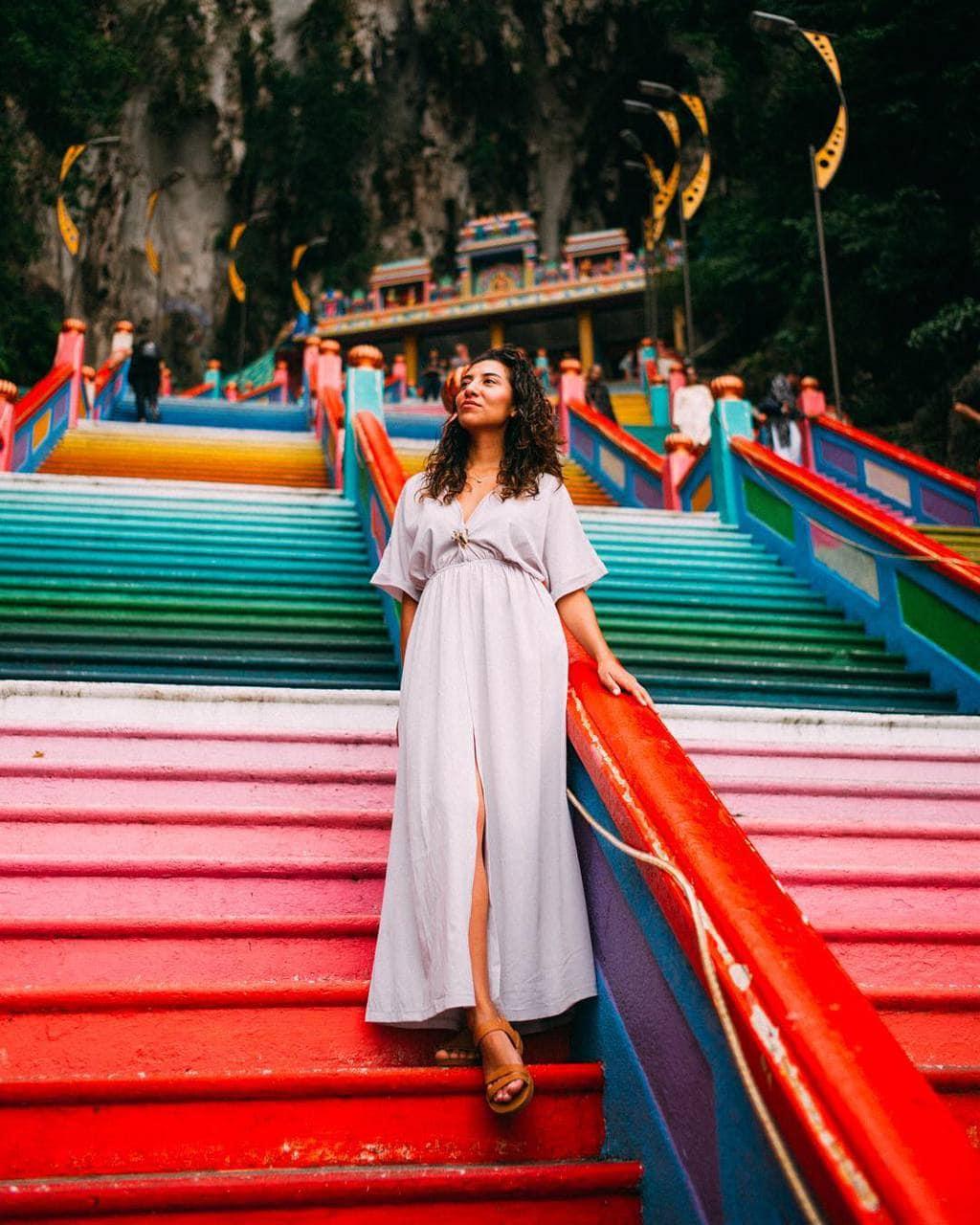 Rainbow Stairs Batu Caves Kuala Lumpur by @cyncynti