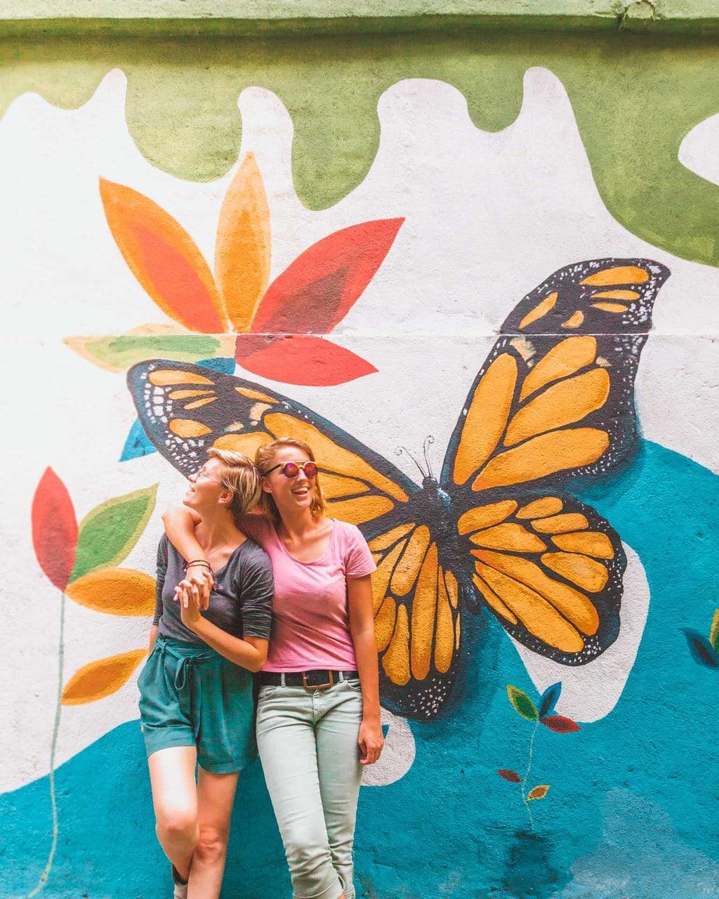 Bukit Bintang Street Art Butterfly, Kuala Lumpur