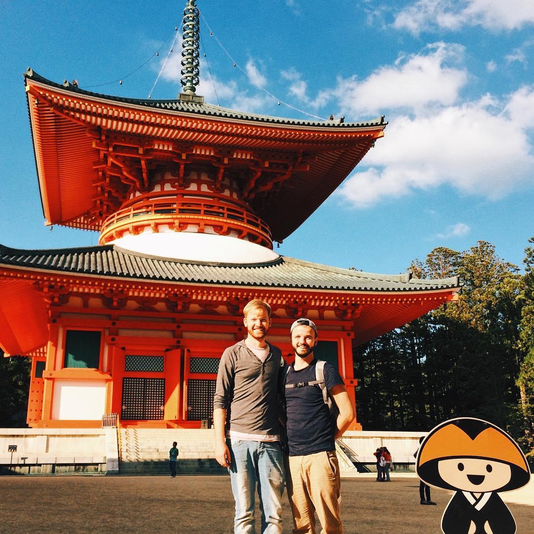 Mount Kōya, Wakayama Prefecture, Gay Travel Japan, Couple of Men