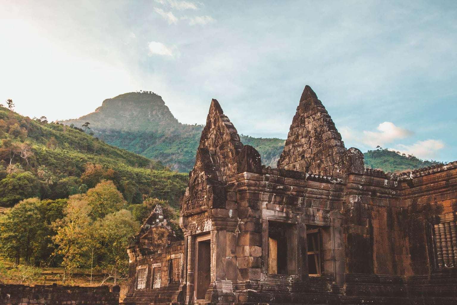 Wat Phou, Vat Phu, ancient Khmer temple complex, Pakse, Southern Laos