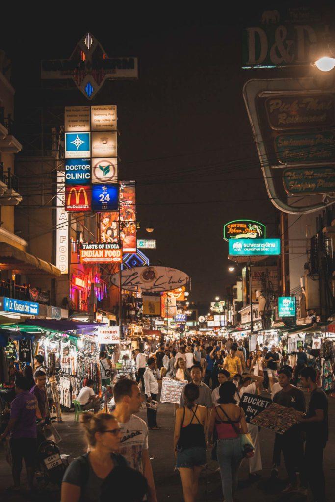 Khao San Road, night market, Bangkok