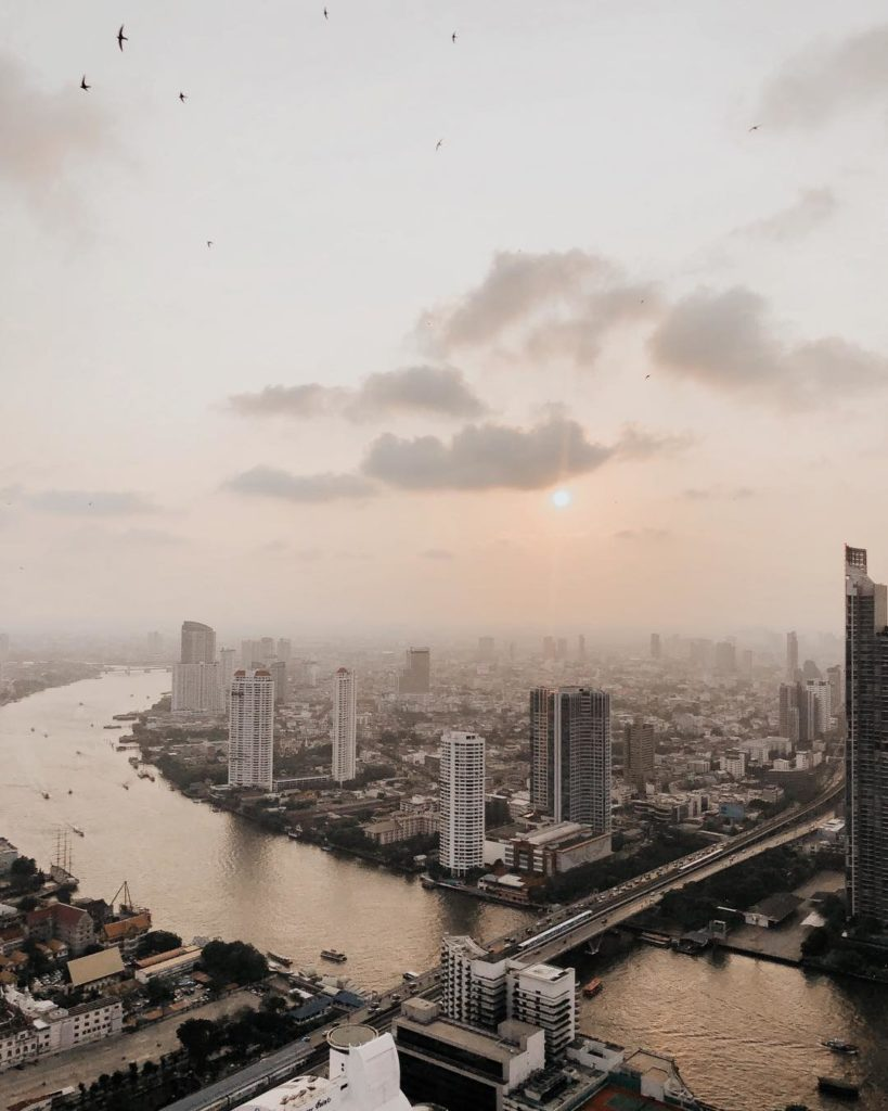 Skybar rooftop skyline view, Bangkok by Kelsee Pietz