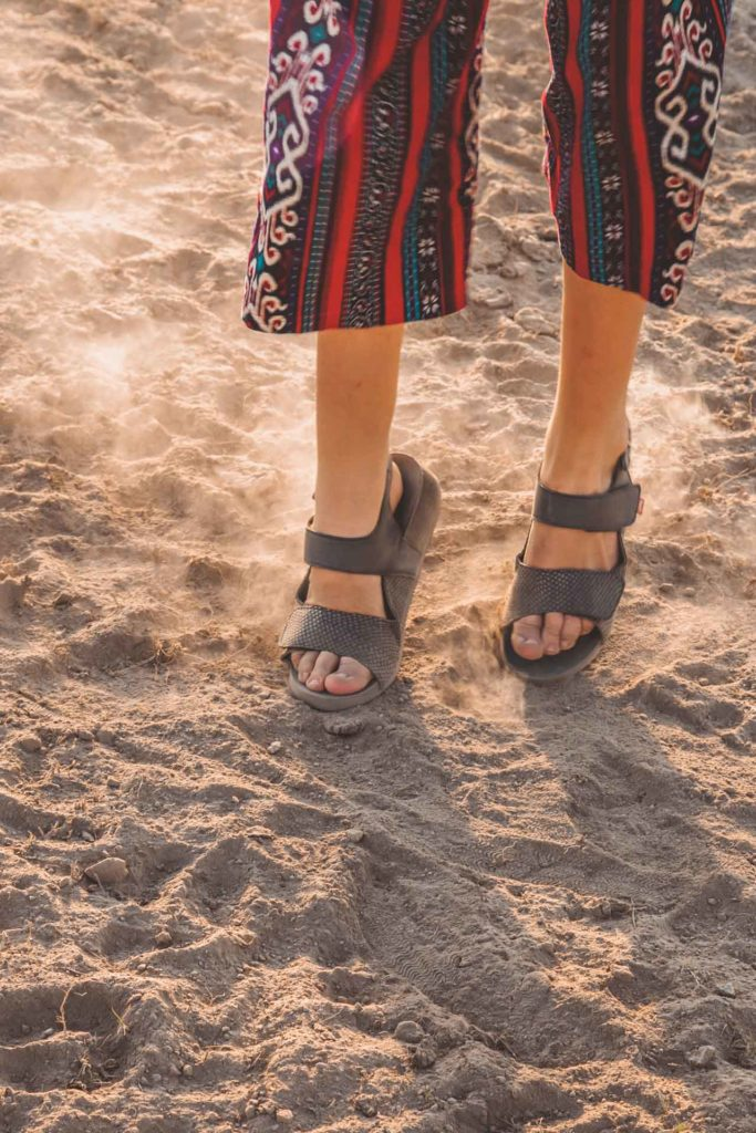 Travel with FITS your feet sandals, born with club foot