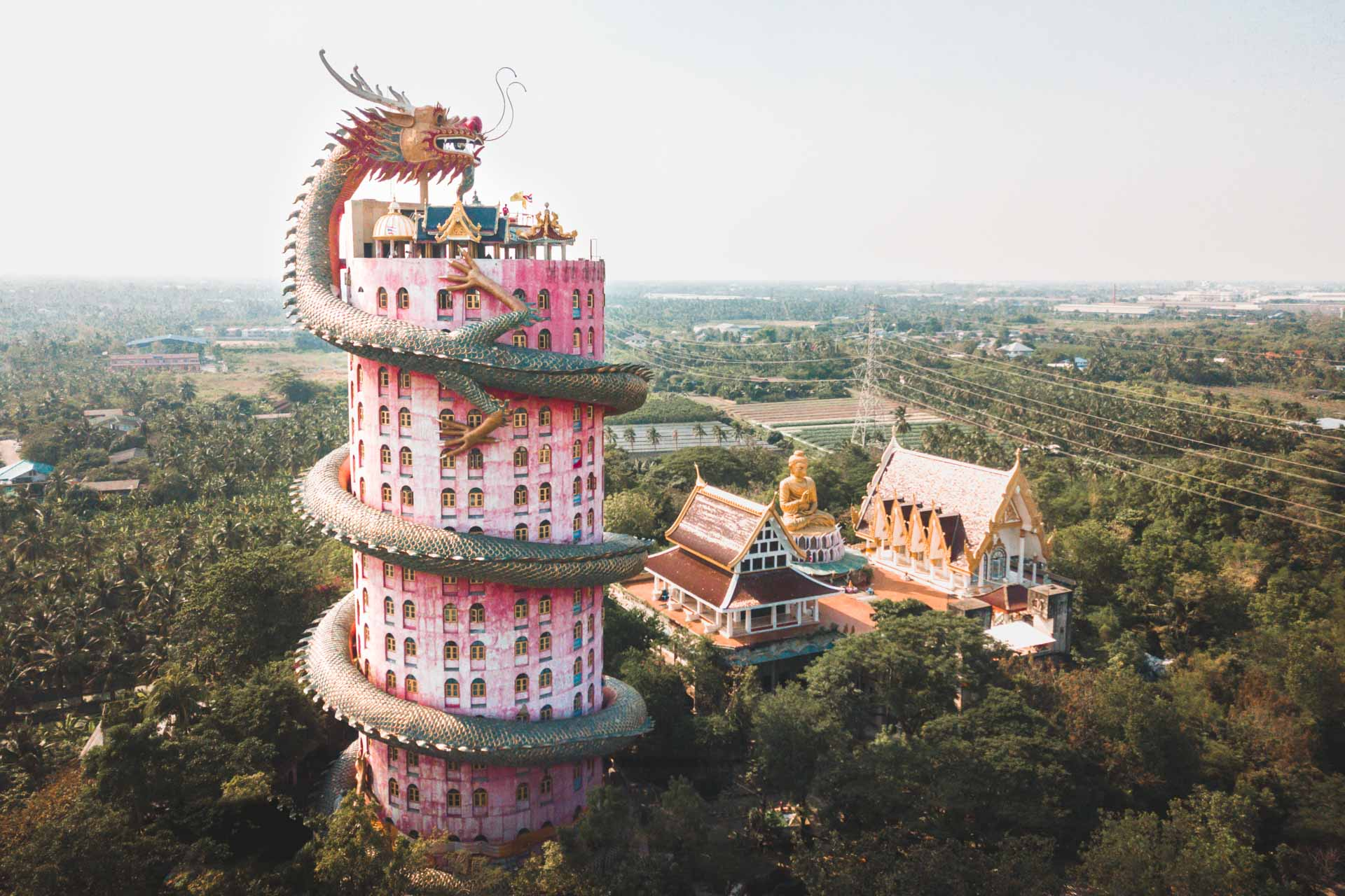 5x Bangkok Off the Beaten Path, Wat Samphran Dragon Temple, Thailand