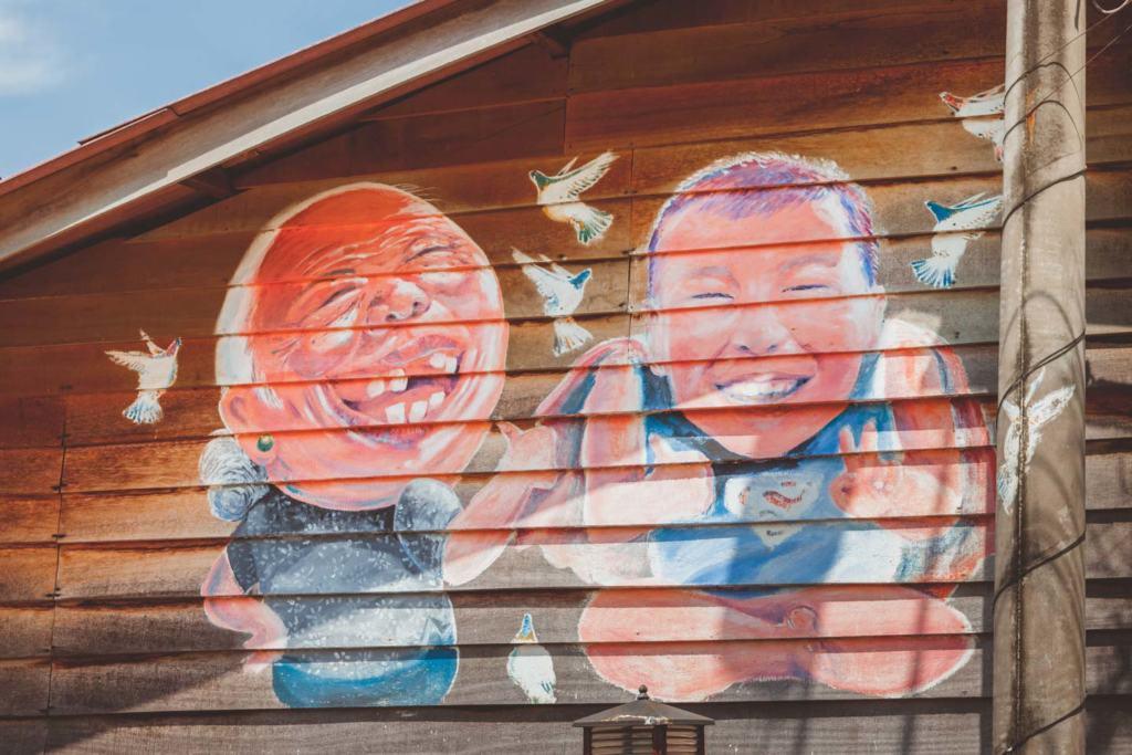 Ah mah Ah soon by Simon Tan, Chew Jetty Penang Street Art, Malaysia