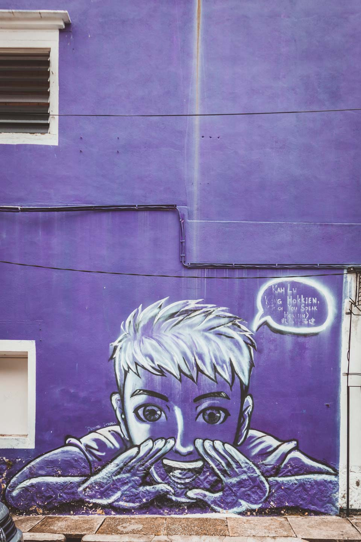 Teach You Hokkien, Lebuh Armenian, Penang Street Art, Malaysia