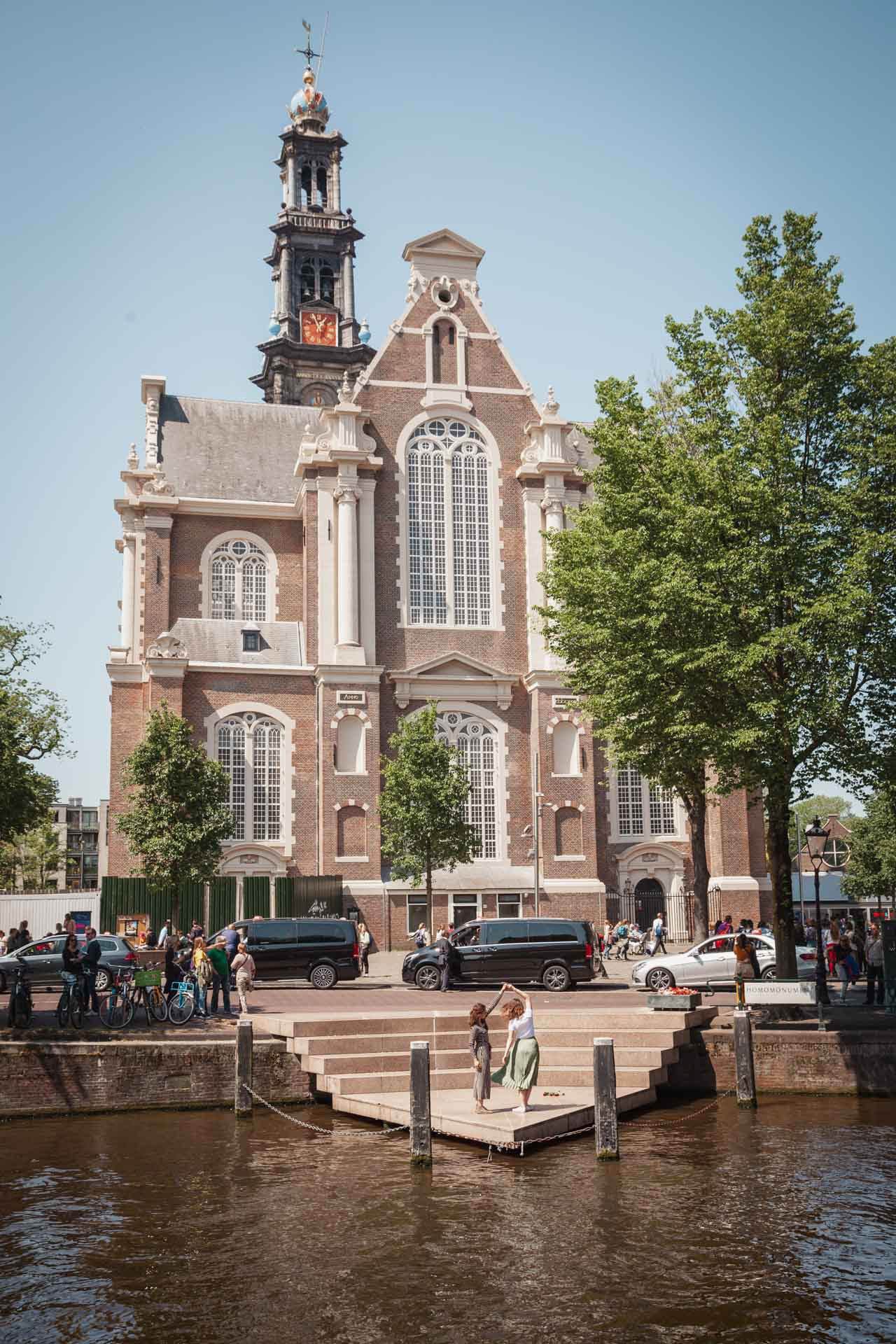Homomonument, westerkerk, Amsterdam,