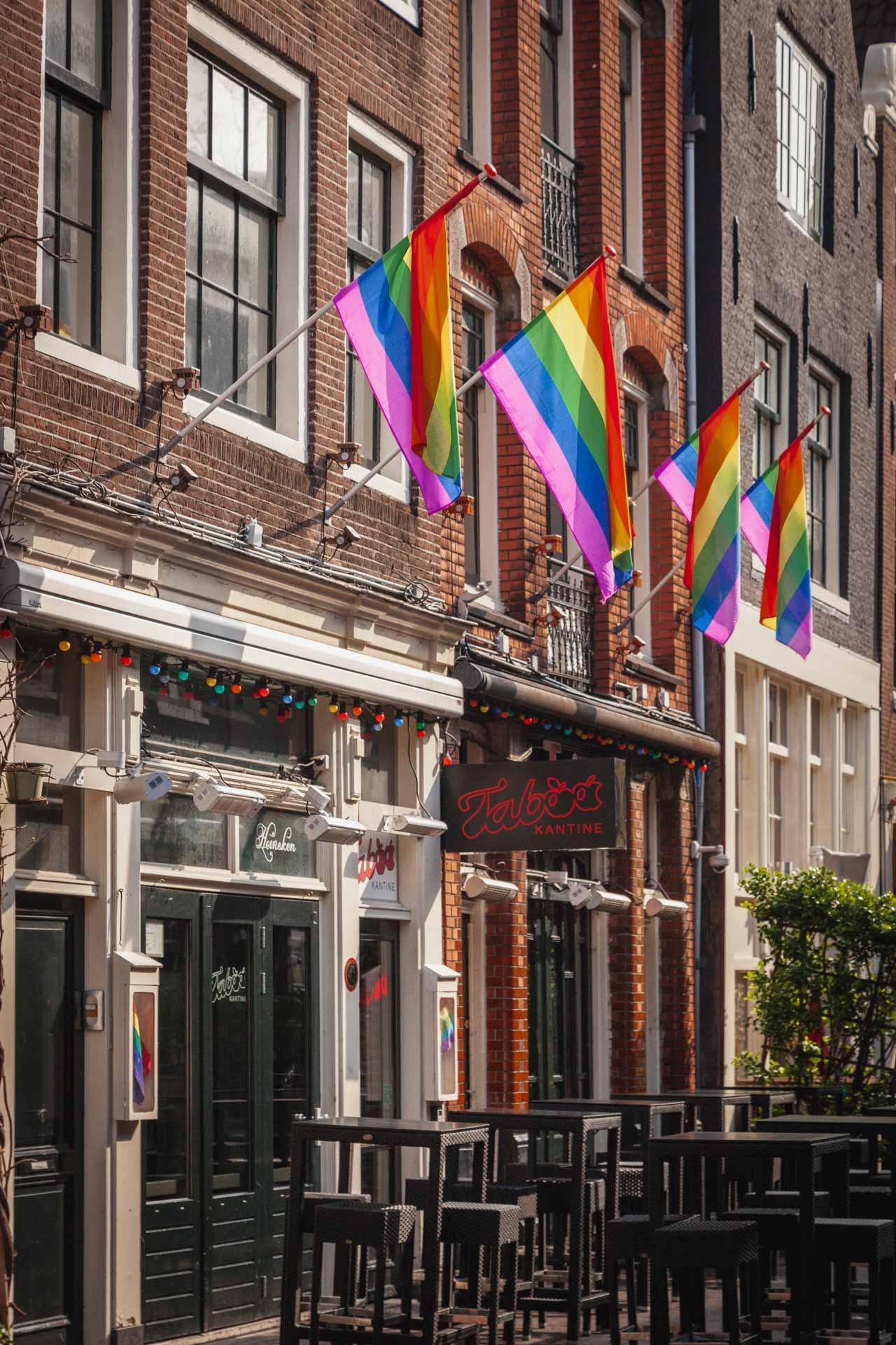 Reguliersdwarsstraat, gay area Amsterdam