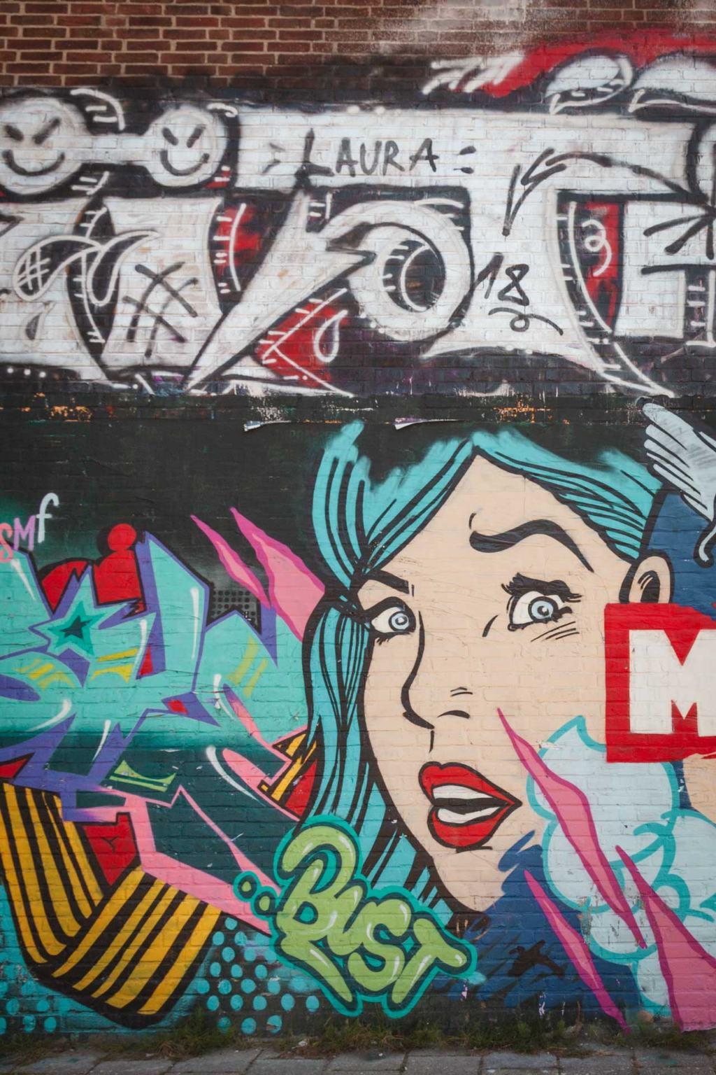 Street art at NDSM Werf, Amsterdam Noord
