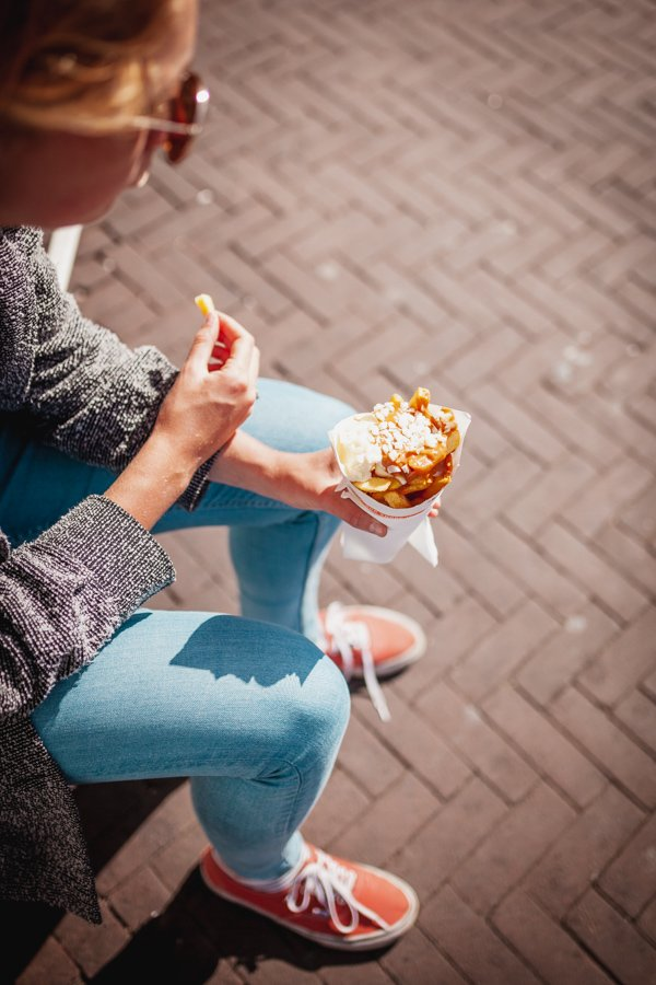 Amsterdam, Dutch food, patatje oorlog, war fries
