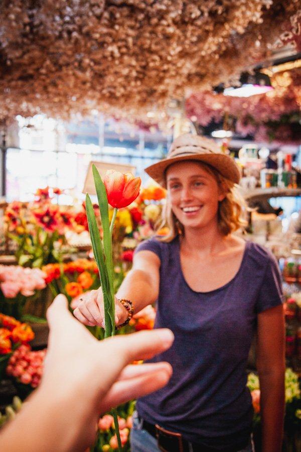 Amsterdam Floating Flower Market, bloemenmarkt, tulips