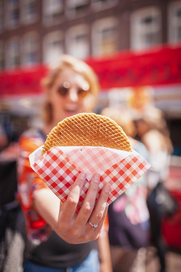 Amsterdam, traditional Dutch food, stroopwafels