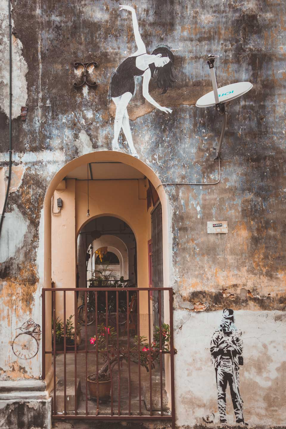 Ballerina on an archway, Georgetown Street Art, Penang