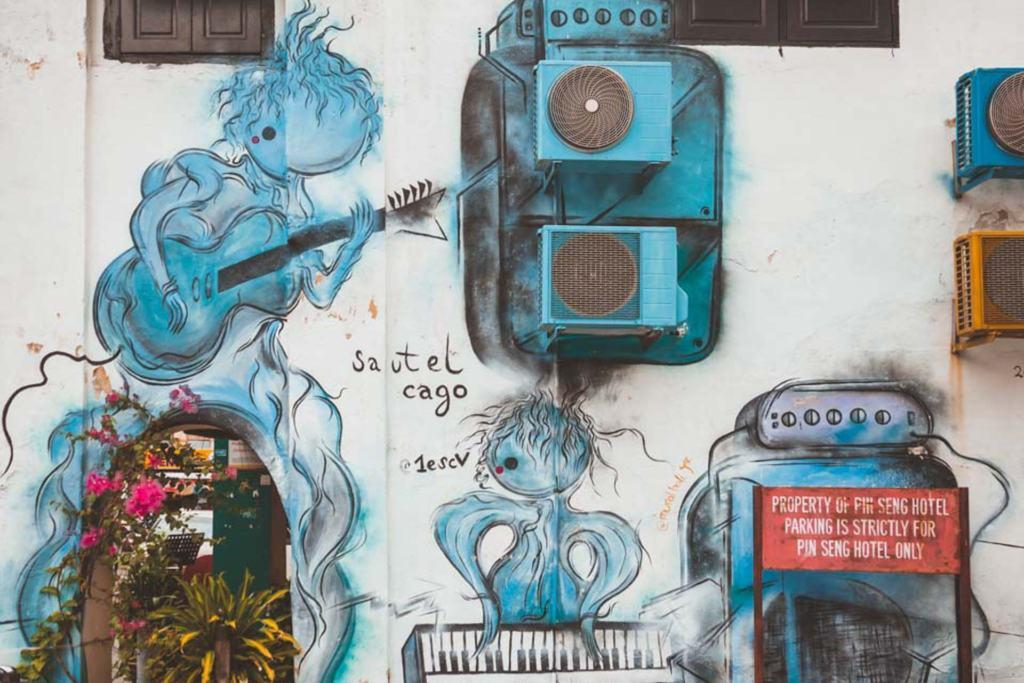 Blue Creatures, Georgetown Street Art, Penang