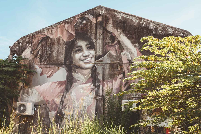 Hakka Dancing girl, Balik Pulau, Penang Street Art, Julia Volchkova