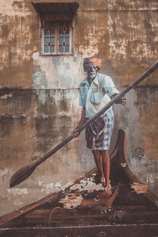 Indian Boatman by Julia Volchkova, Penang