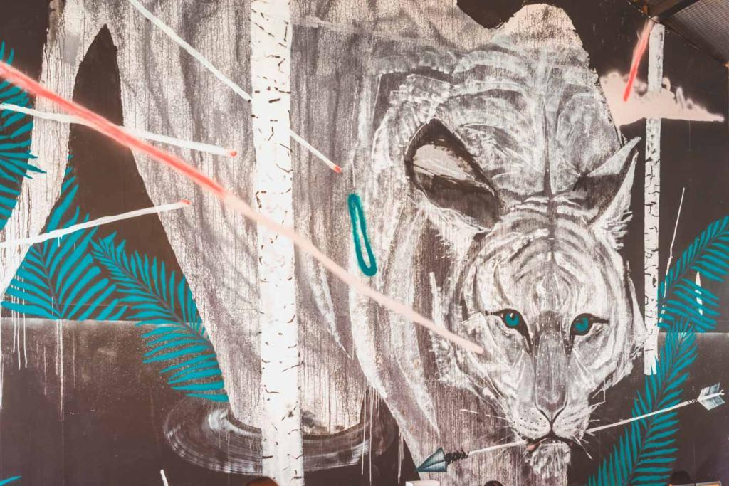 Malayan Tiger by Japanese-Australian artist Hiroyasu Tsuri aka TwoOne, Hin Bus Depot