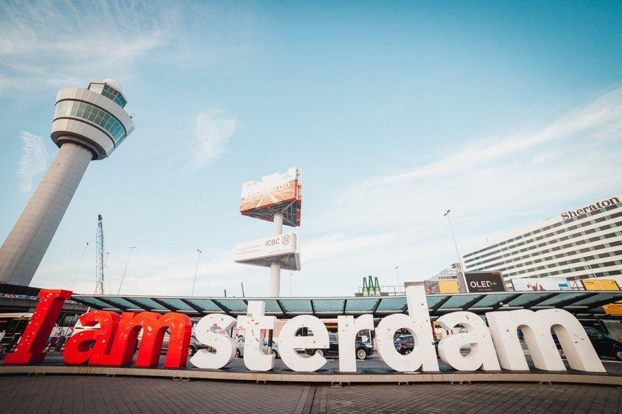 Schiphol, I Amsterdam sign, Netherlands