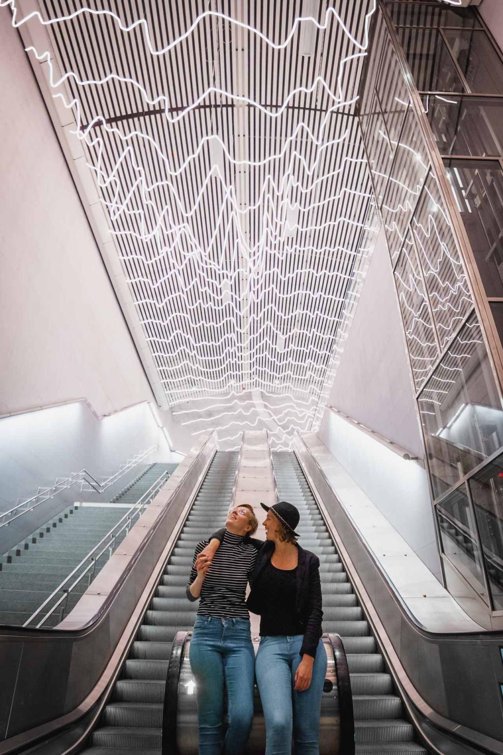 Stockholm Metro Art, T-bana, Odenplan station, heartbeat
