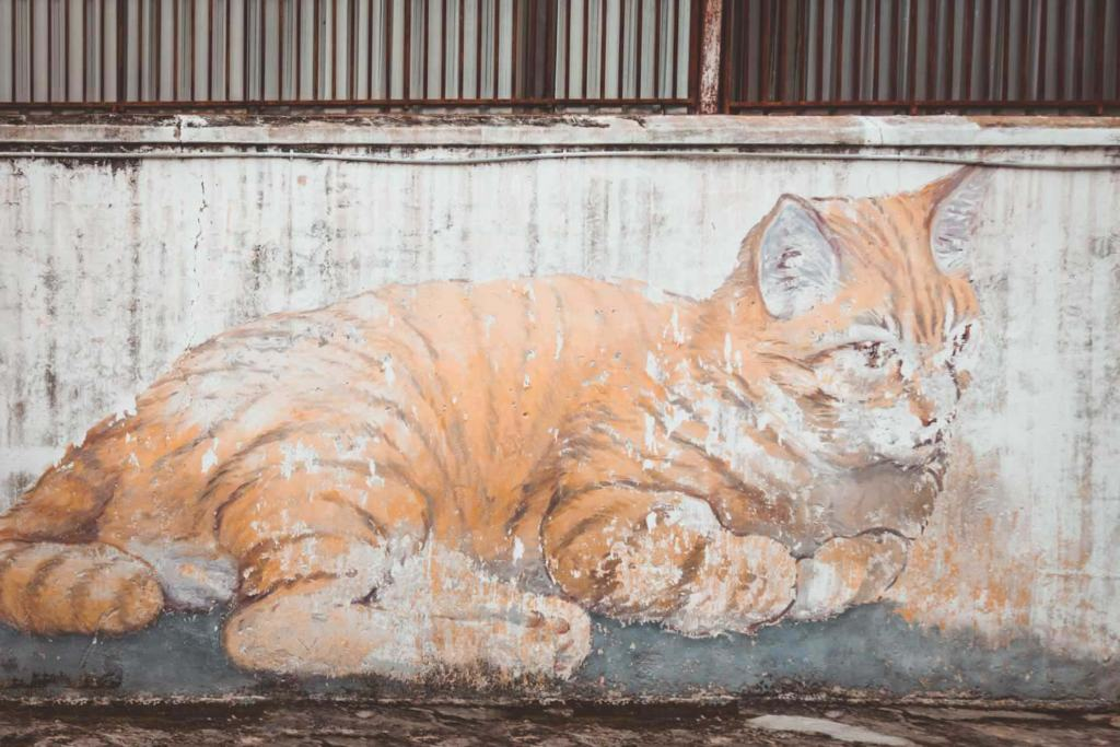 The Giant Cat Mural, Skippy comes to Penang Street Art