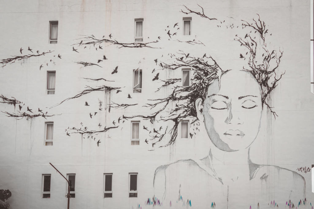 The Tree Lady, Georgetown Street Art, Urban Xchange, Hin Bus Depot