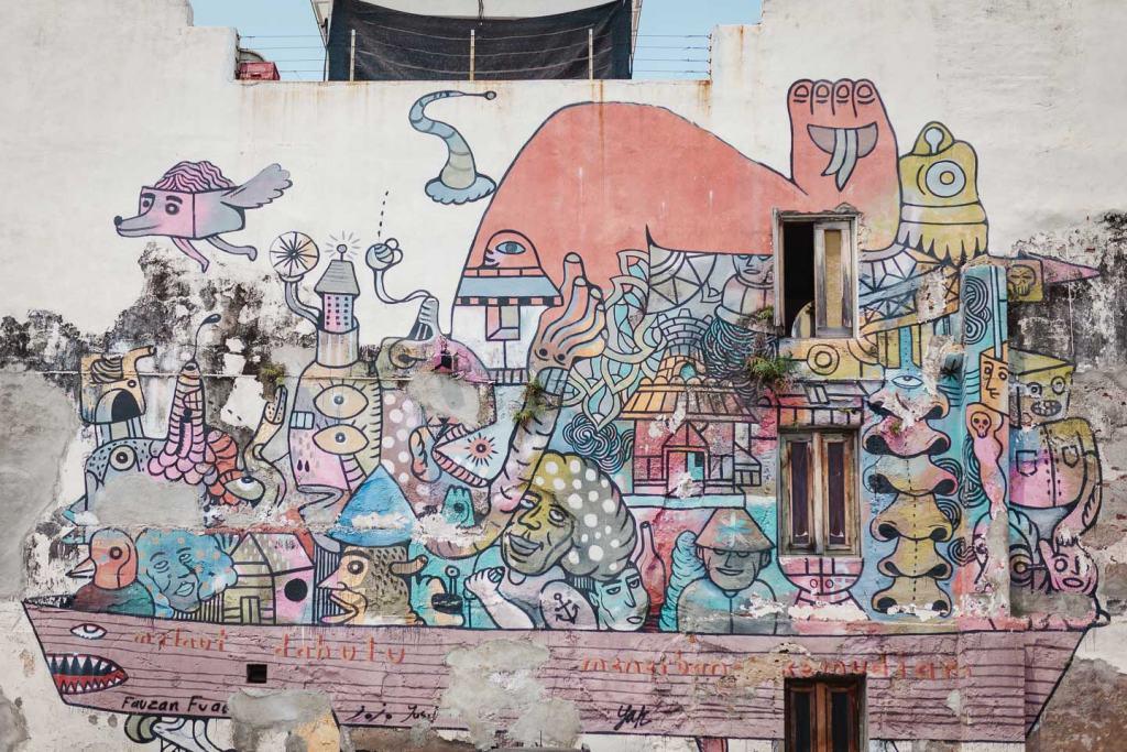 4Some Crew street art Penang, Urban Xchange Genius Parking Lot