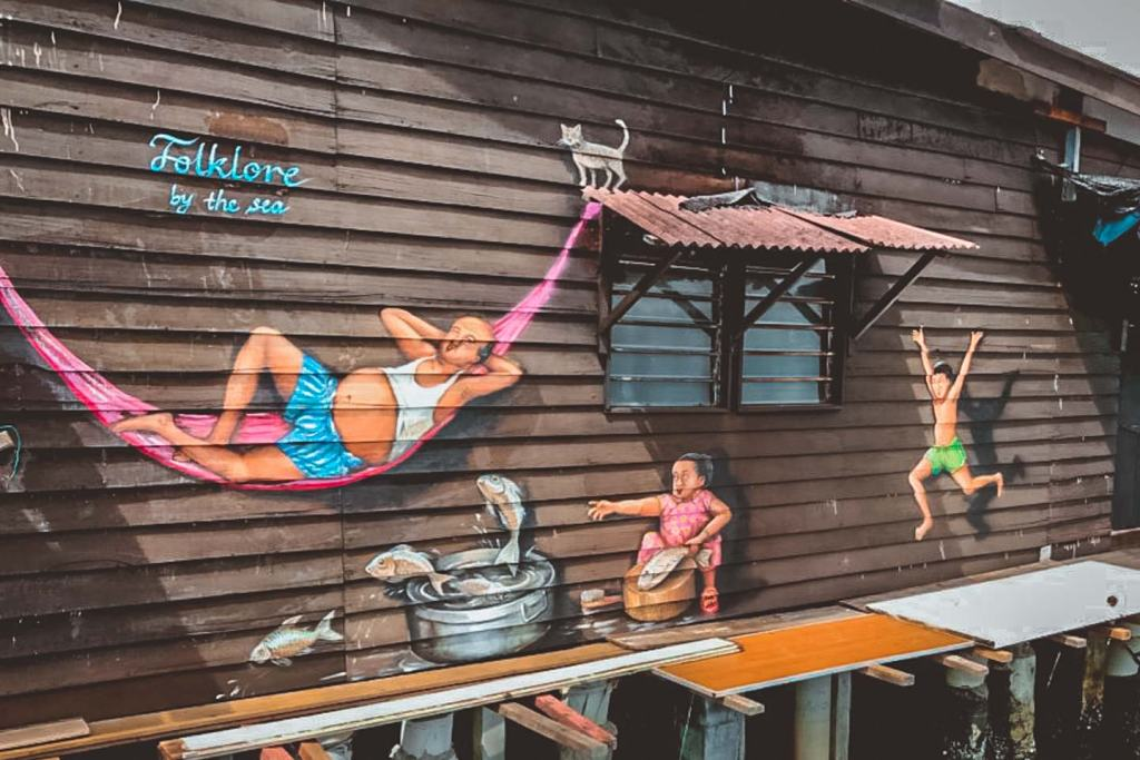 Folklore by The Sea by Yip Yew Chong, Chew Jetty Penang Street Art, Malaysia
