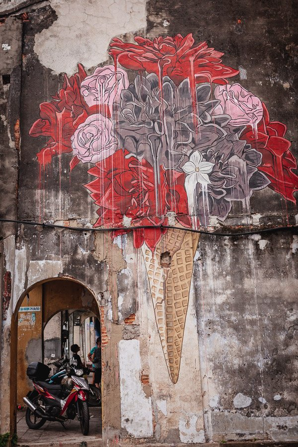 Ice Cream Rose, Don John, Penang Street Art