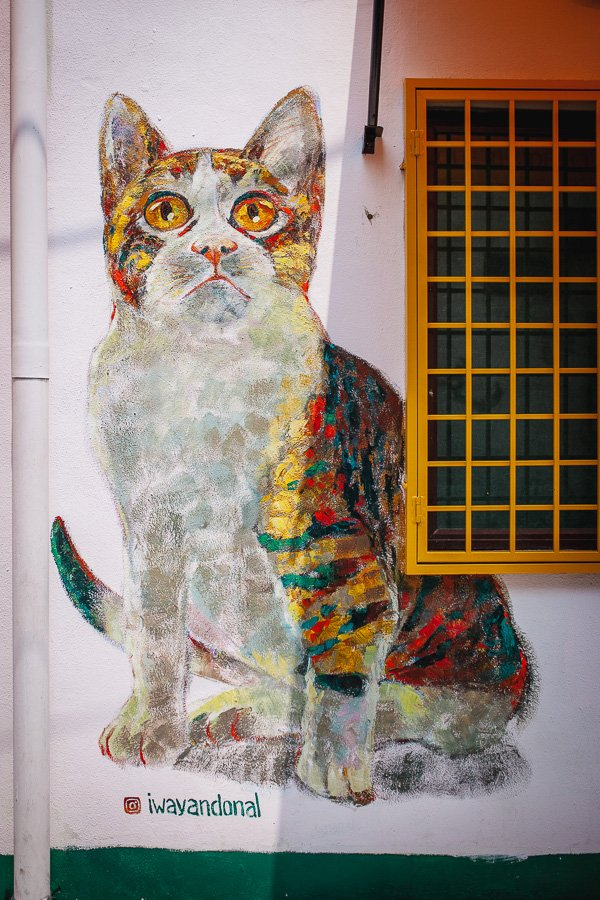 Penang Street Art Cat