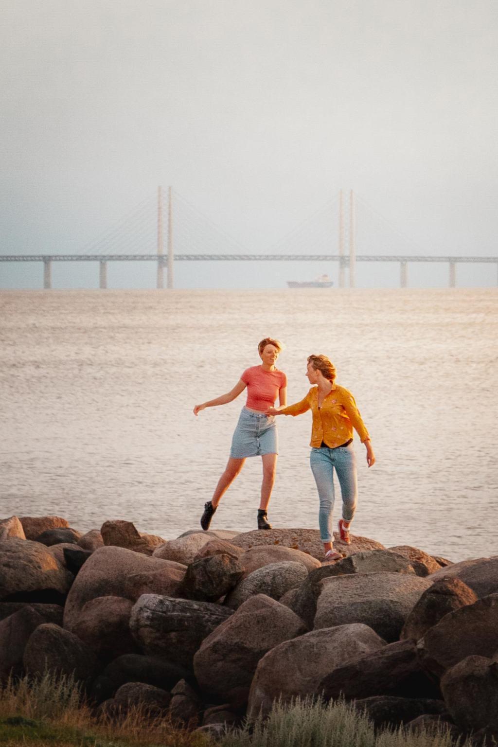 Øresund bridge from Västra hamnen, Malmö