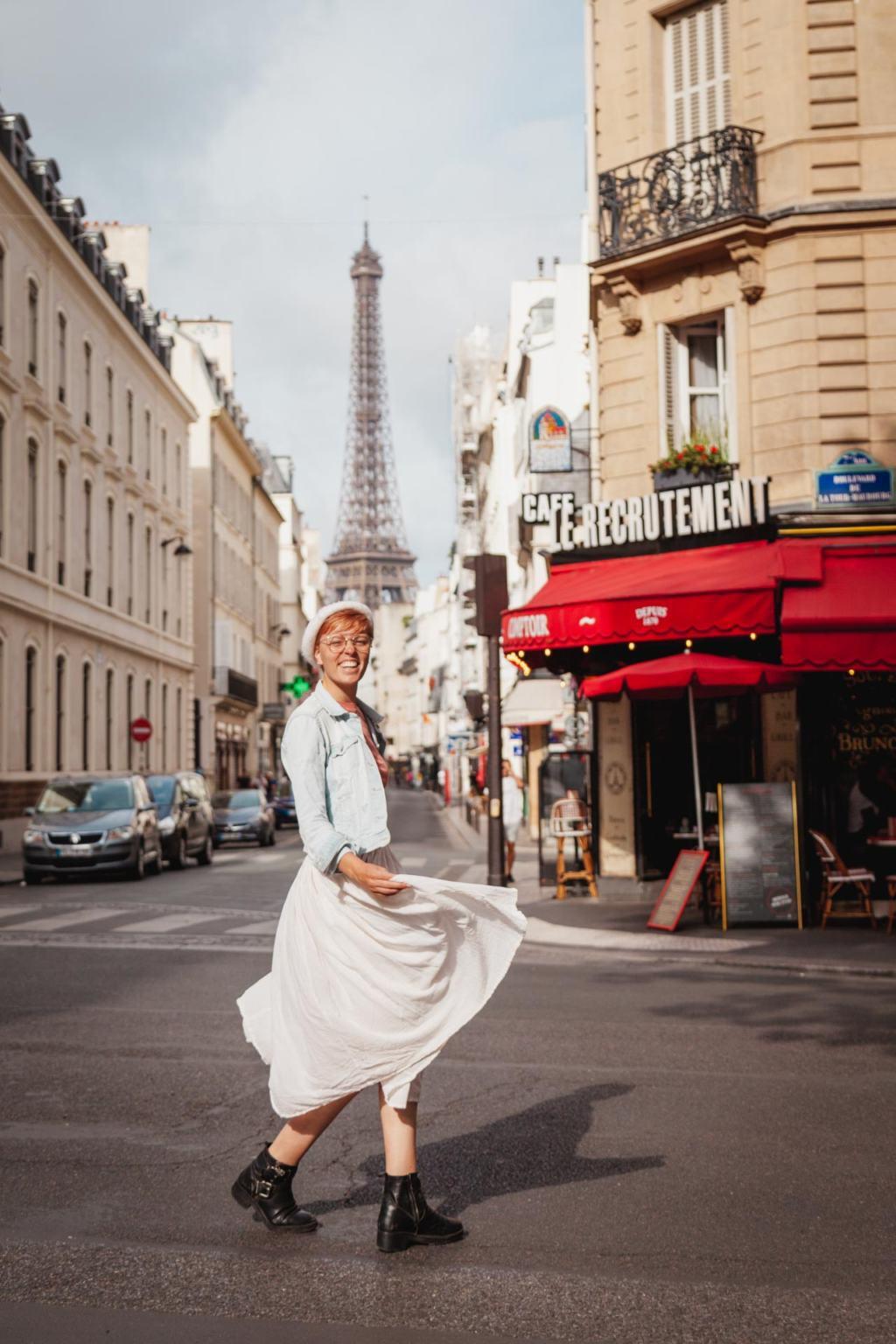 Best View of the Eiffel Tower, Le Recrutement Café, Rue Saint-Dominique, Boulevard de la Tour-Maubourg, Paris