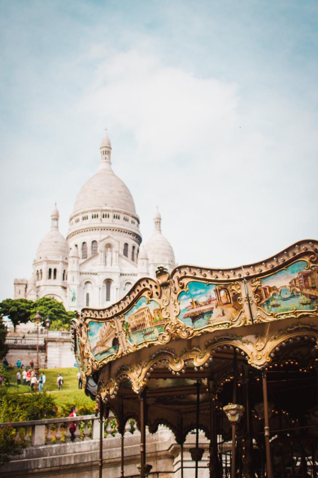 Paris Carousel Sacre Coeur, Montmartre