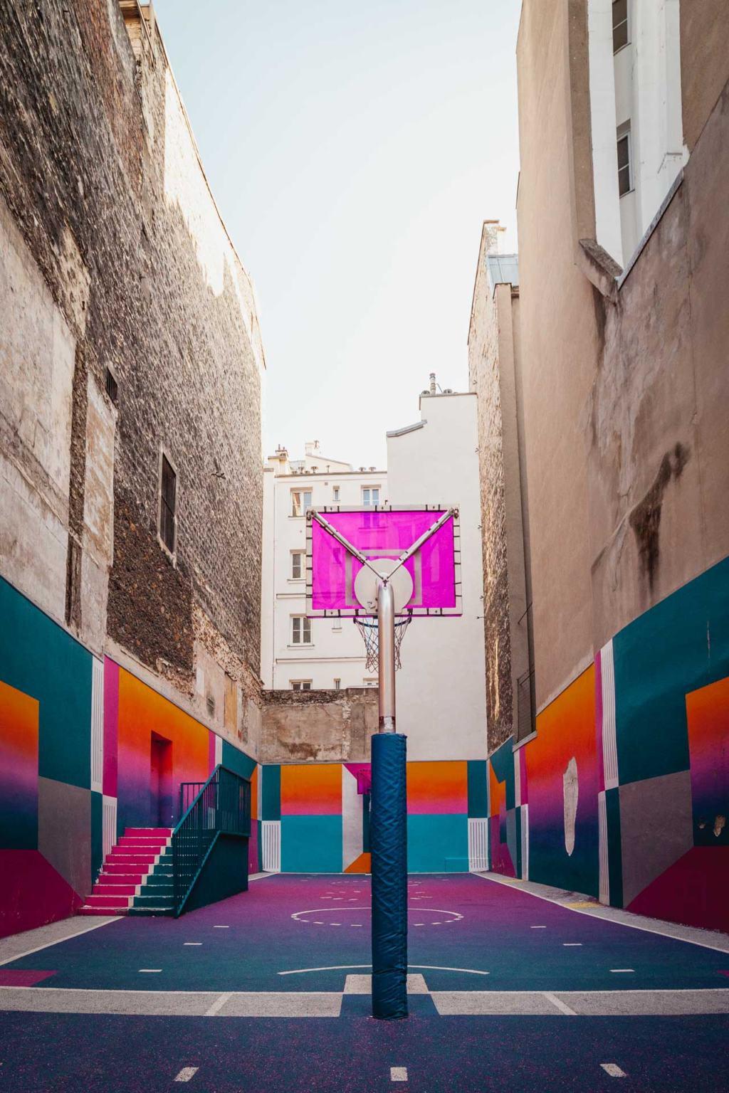 Pigalle Basketball Court, Playground Duperré, Montmartre, Paris
