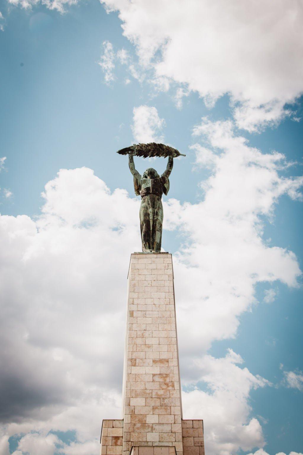 Szabadság szobor, Liberty Statue, Géllert Hill, Budapest, Hungary
