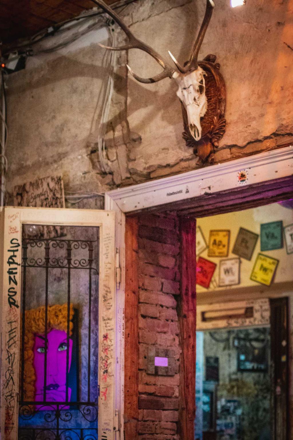 Szimpla Kert interior, ruin bar Budapest, Hungary