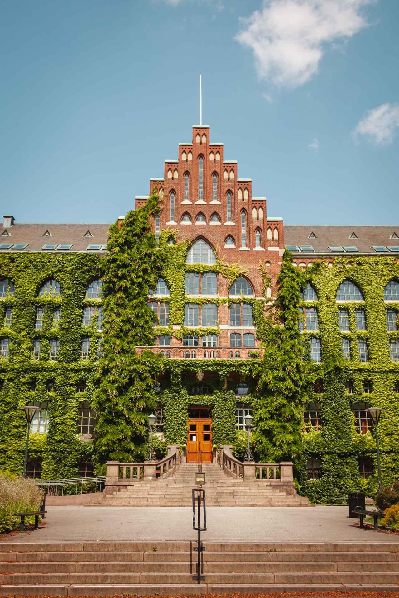 University Library in Lund, Skåne, Sweden