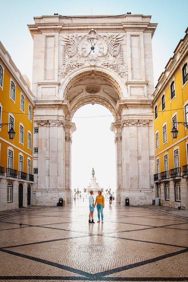 Arco da Rua Augusta, Praça do Comércio, Lisbon, Portugal