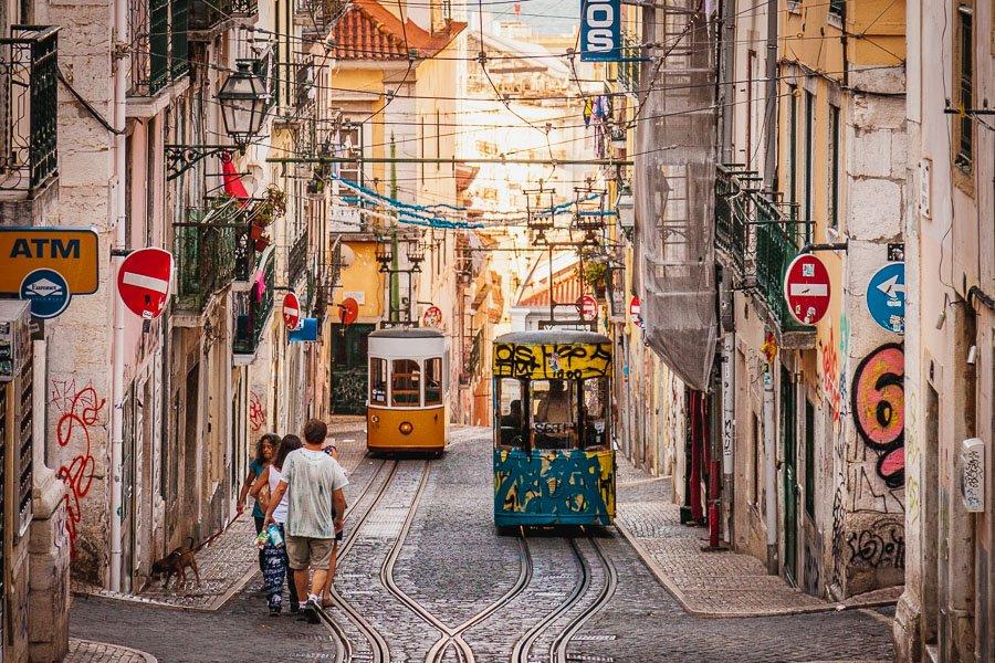 Elevador da Bica de Duarte Belo, Lisbon funicular, Portugal