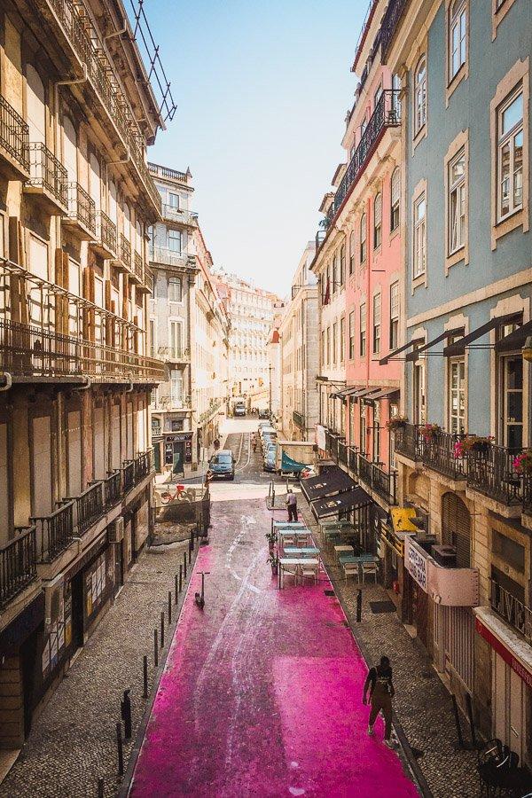 Lisbon Pink Street, Rua Cor-de-Rosa, Cais do Sodre