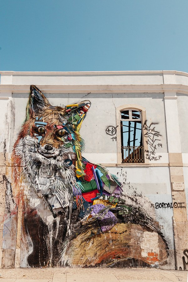 Lisbon Street Art, the Fox by Bordalo II