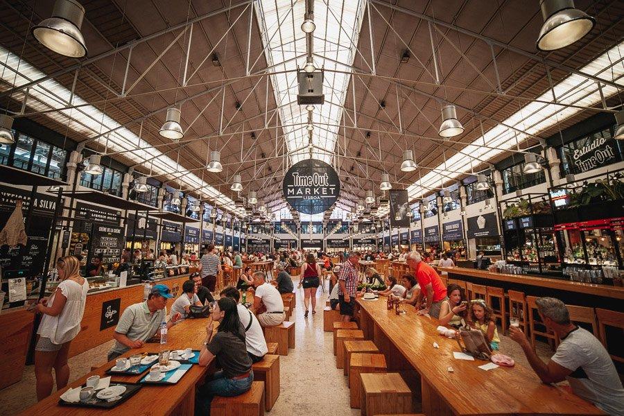 Mercado da Ribeira, TimeOut Market Lisbon, Portugal