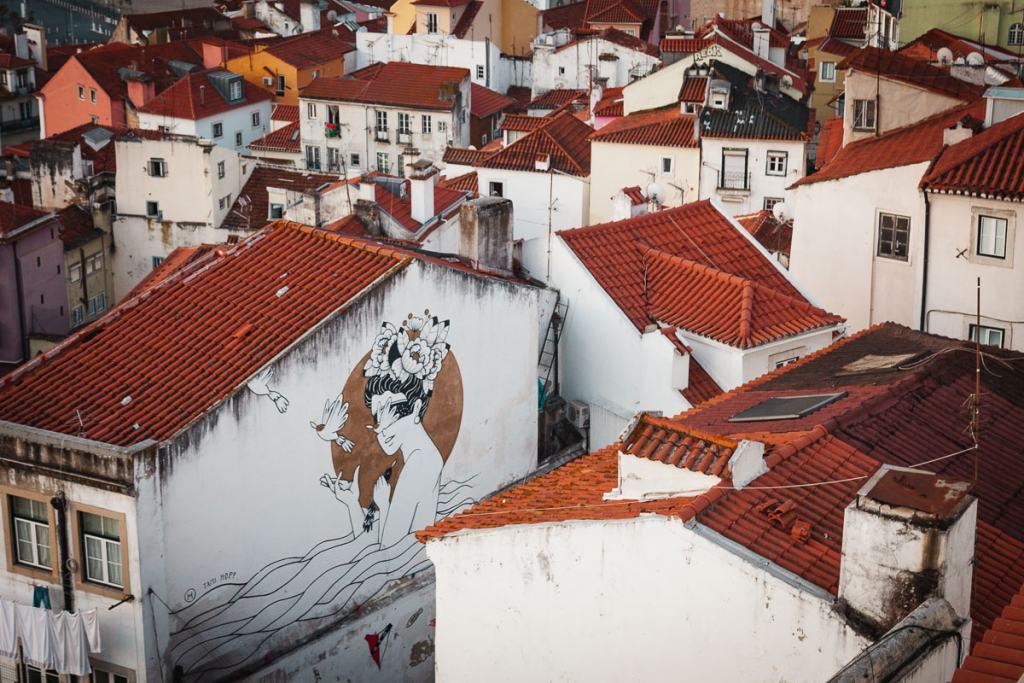 Miradouro das Portas do Sol, Lisbon viewpoint Alfama