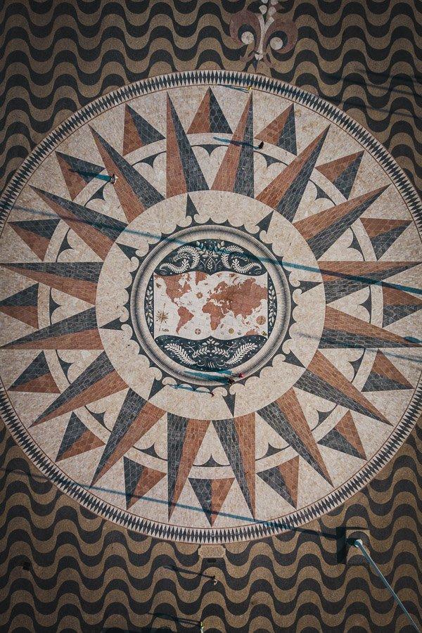 Padrão dos Descobrimentos monument, Lisbon world map