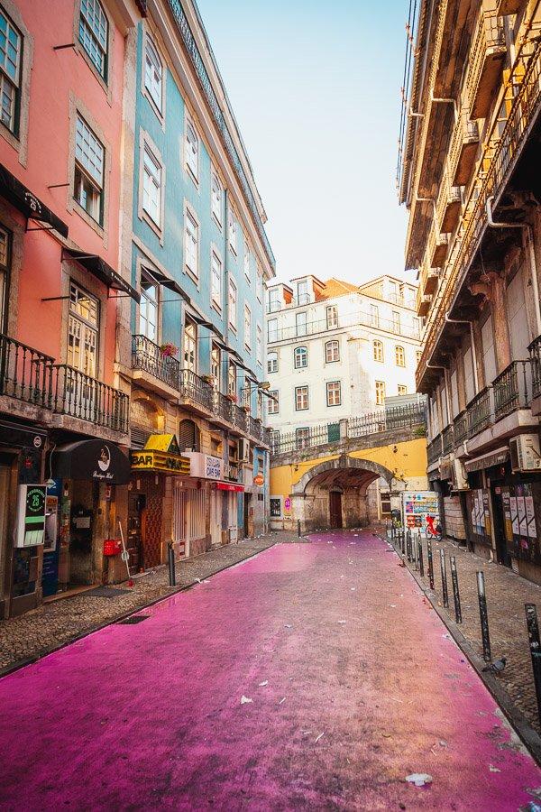 Pink Street Lisbon, Rua Nova do Carvalho, Cais do Sodre