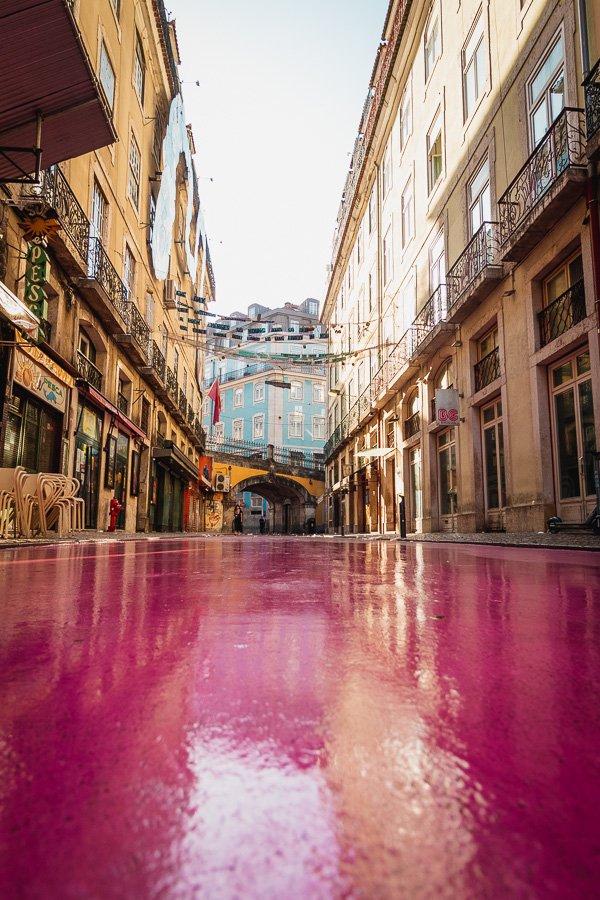 Pink Street Lisbon, Rua Nova do Carvalho, Portugal