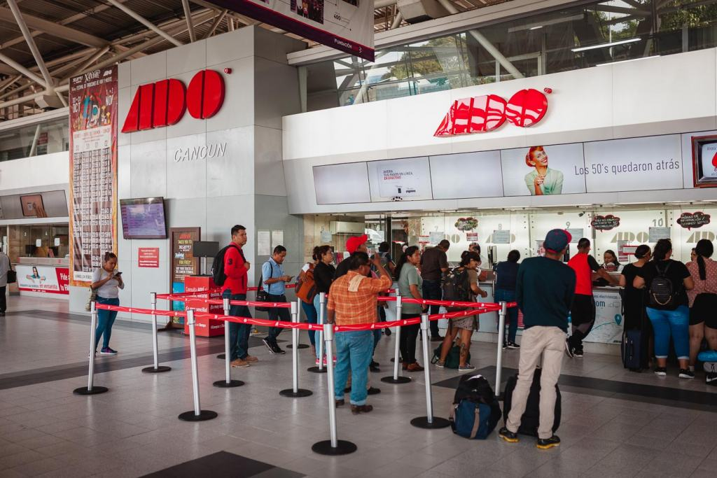 ADO bus station Cancun, how to get to Isla Mujeres